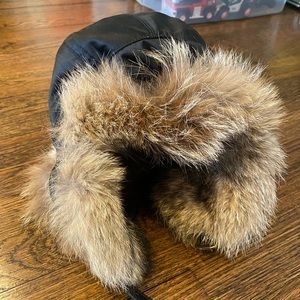 Coach hat lined with Coyote trapper